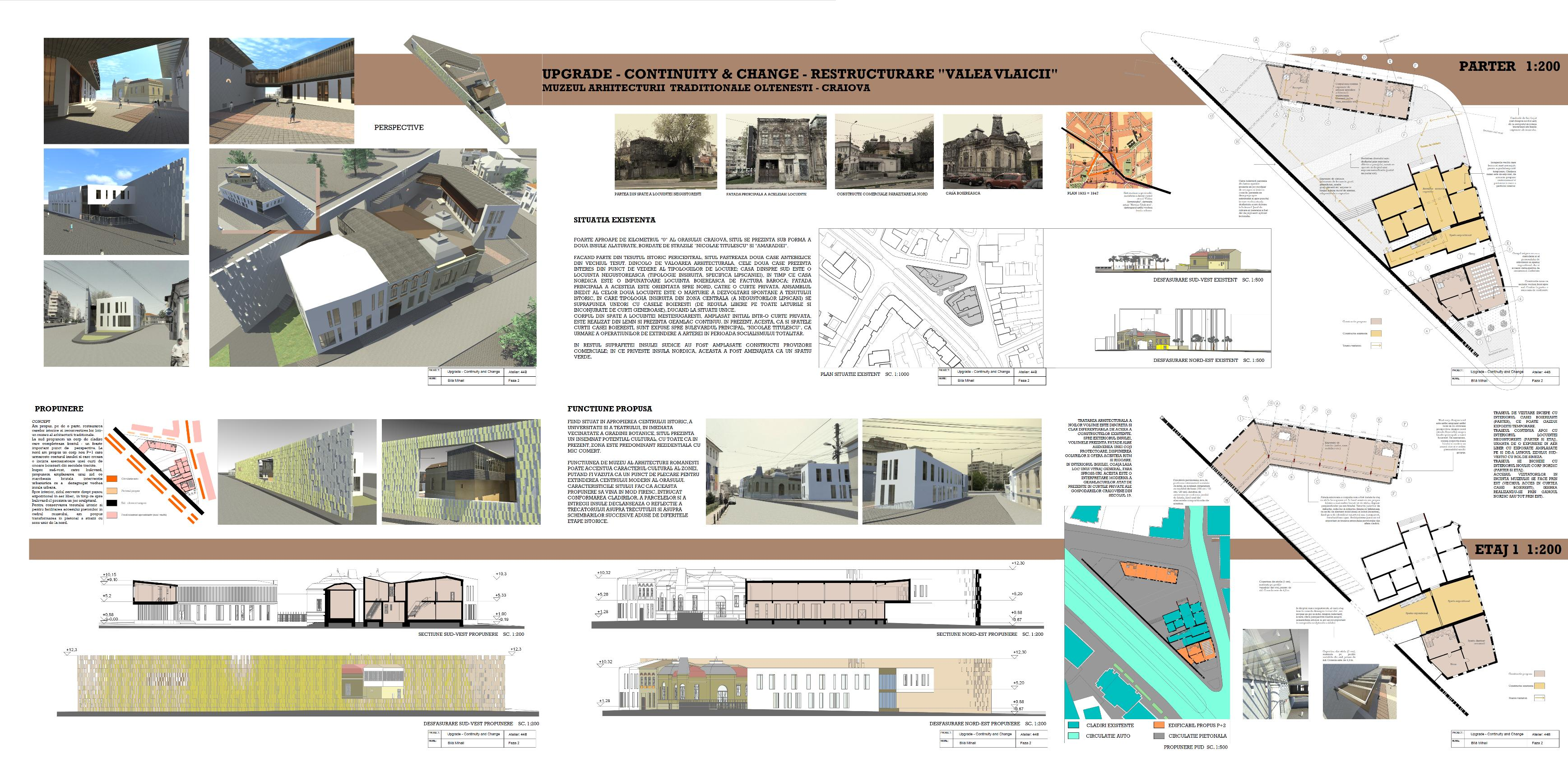 Museum of traditional architecture school project for Architecture art design