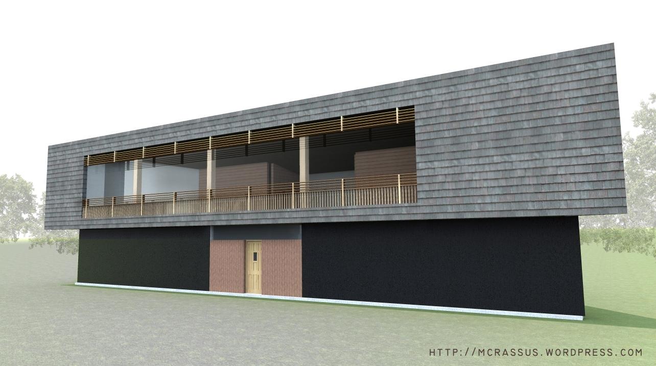 Passive house modern socrates megaron mcrassus art for Trapezoid house design