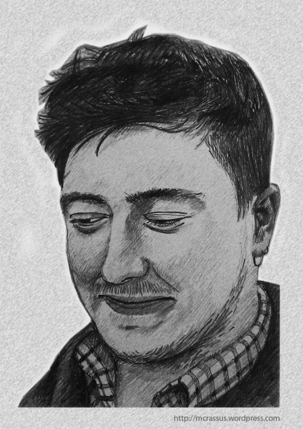 Pencil portrait Marcus Mumford