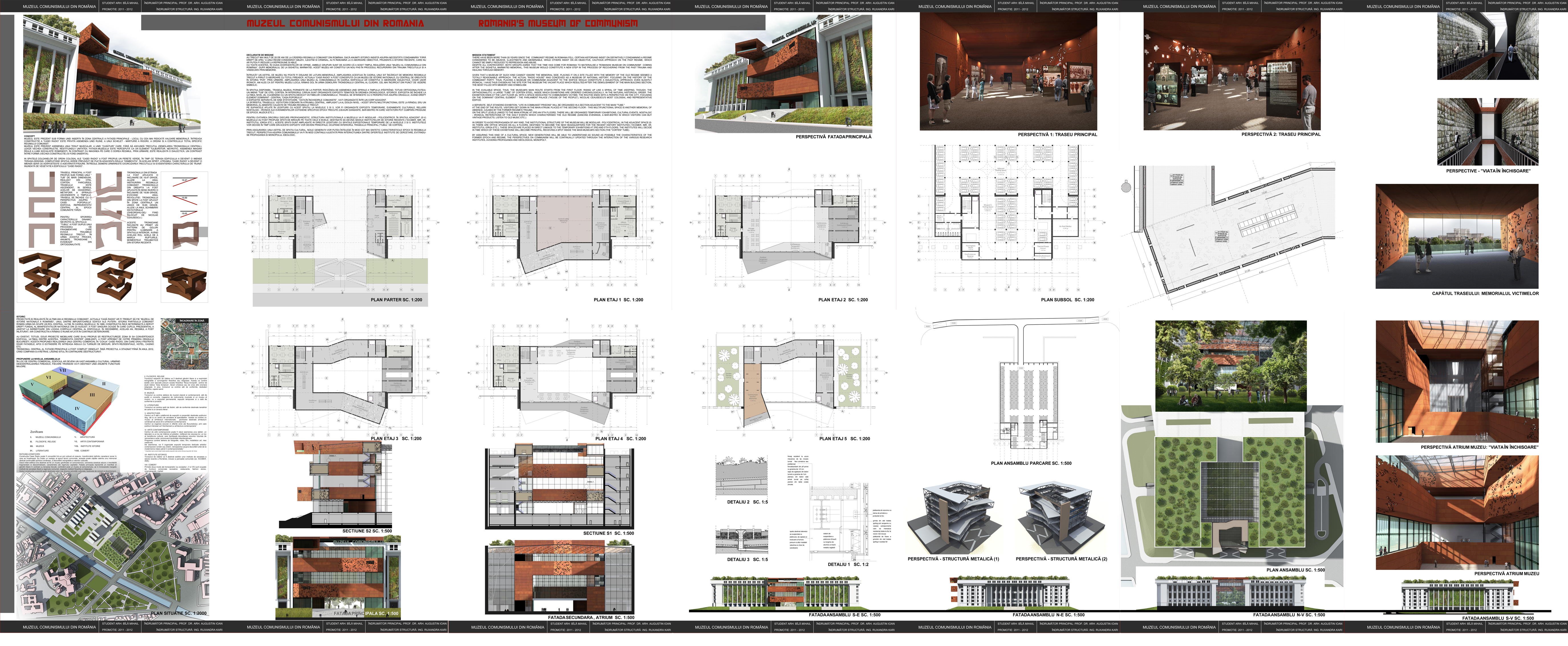 Diploma project romania s museum of communism mcrassus art for Design architektur