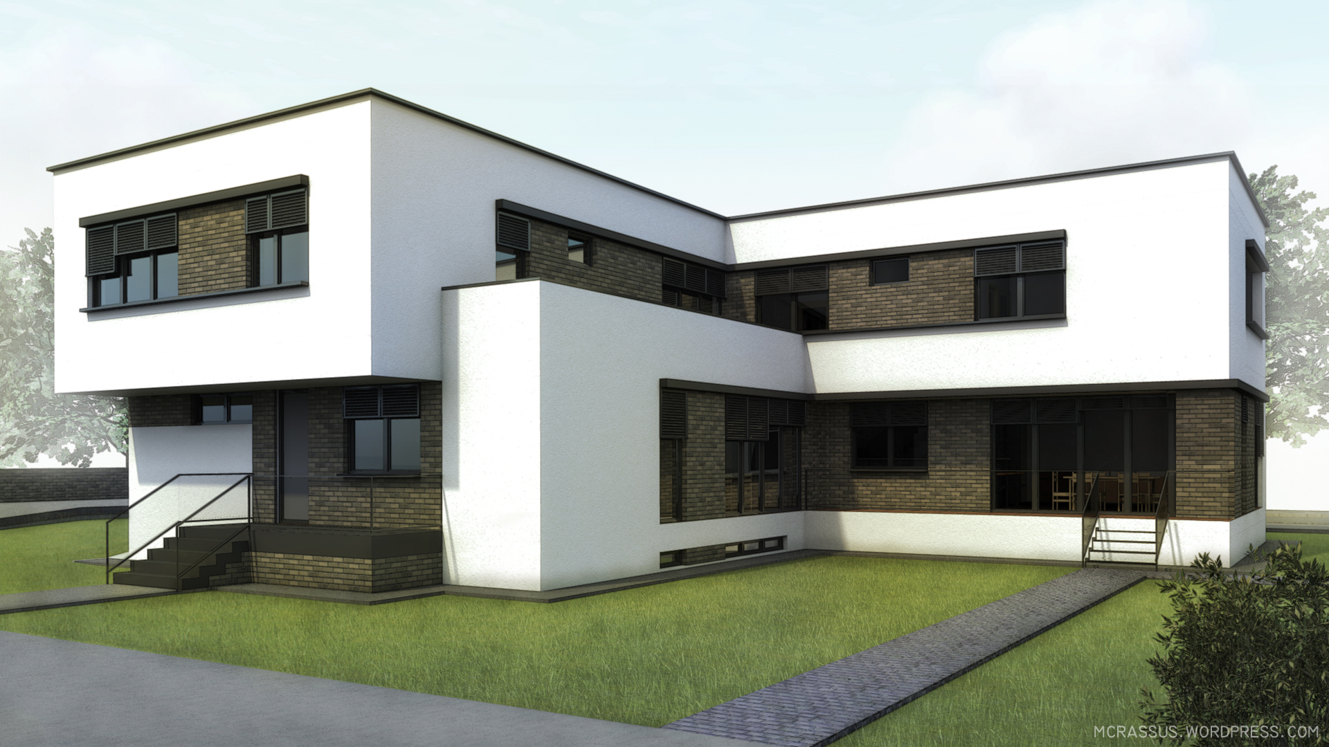 House for two families craiova proposition mcrassus art for House for two families