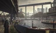 Flooded London - https://mcrassus.com/2018/03/26/flooded-london-alternate-history/